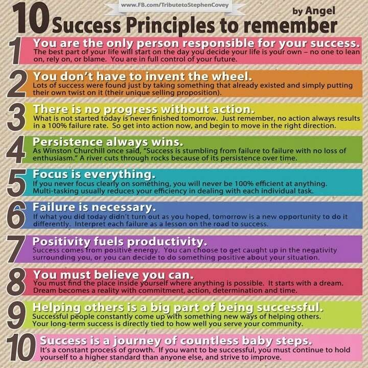 10 success principles to remember job search infographics