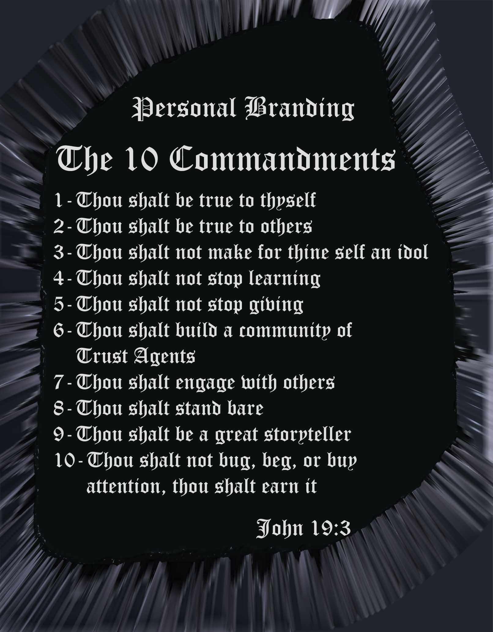 10 Commandments of Personal Branding