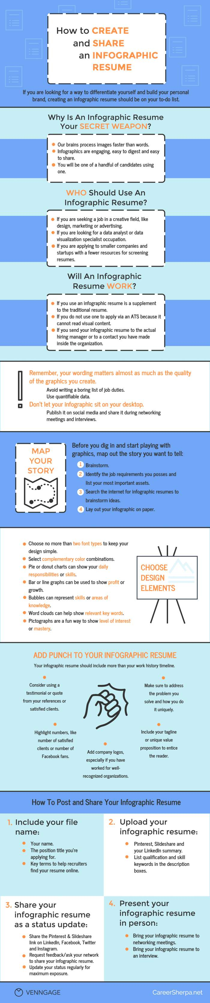 How to Create and Share Your Infographic Resume