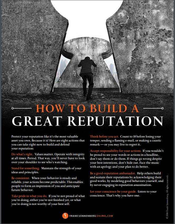 How to Build a Great Personal Reputation