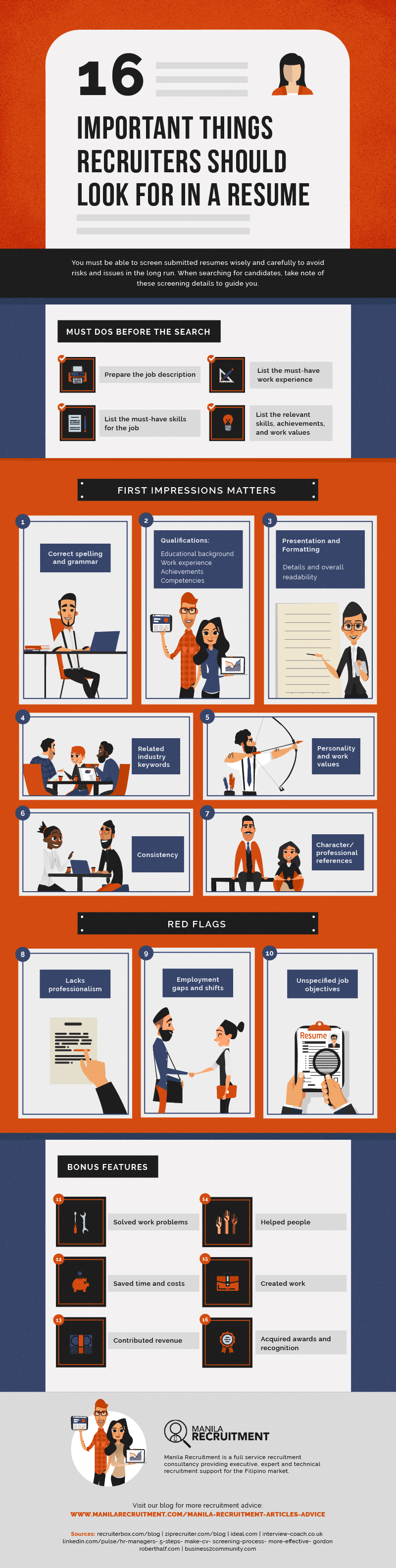 16 Important Things Recruiters Should Look for in a Resume [Infographic]