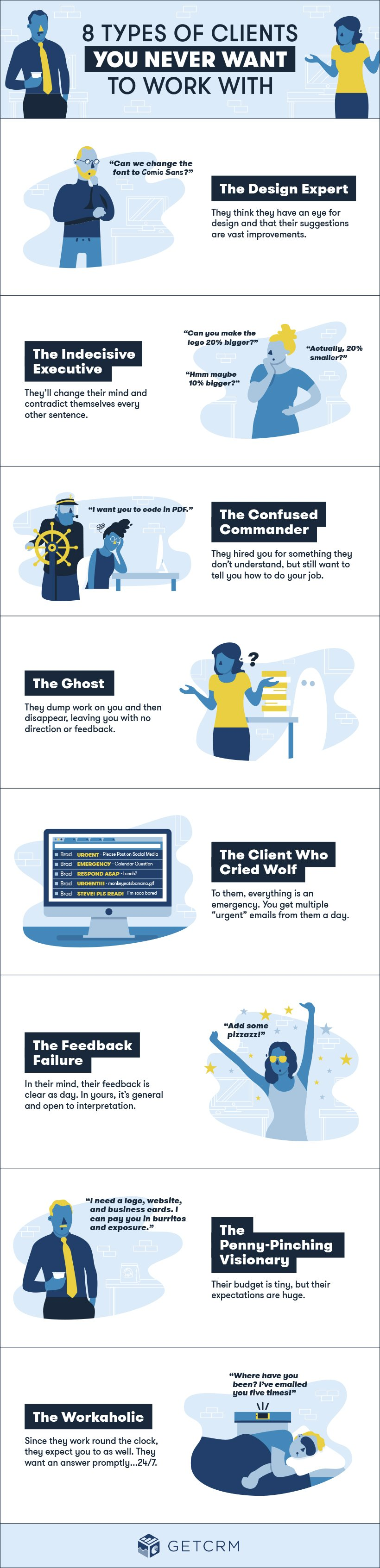 8 Types of Clients You Never Want to Work With [Infographic]