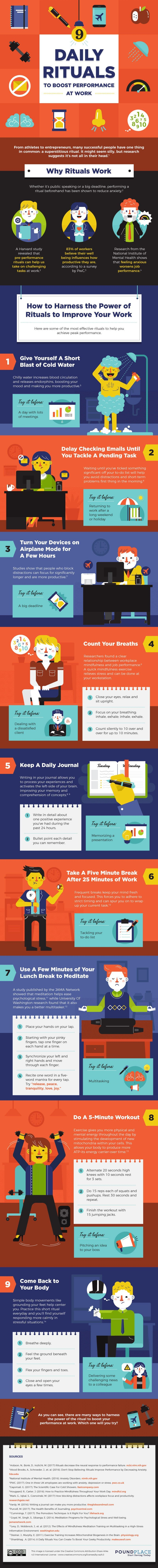 9 Daily Rituals to Boost Your Performance at Work (Infographic)