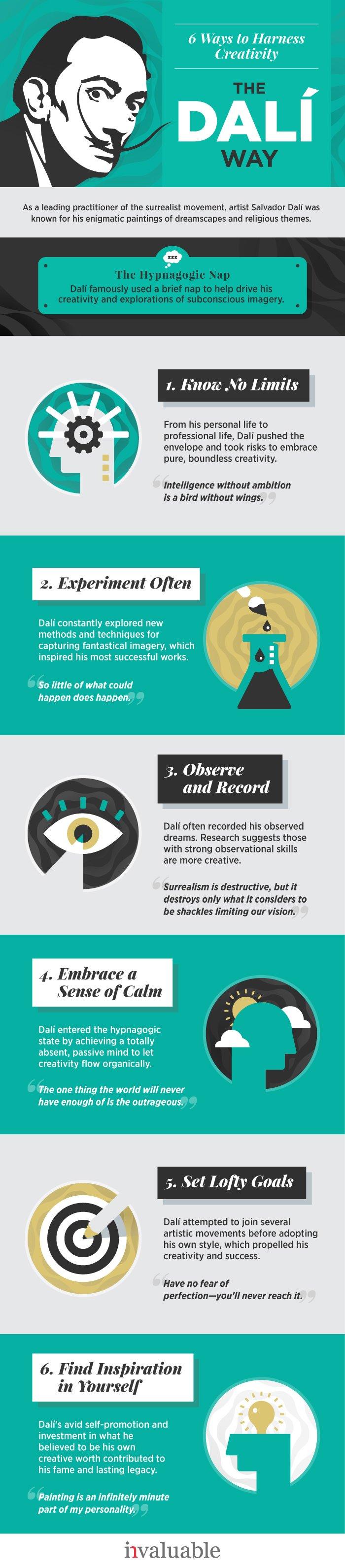 6 ways to harness creativity - the dali way